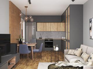Студия дизайна 'INTSTYLE' Scandinavian style kitchen Wood Grey