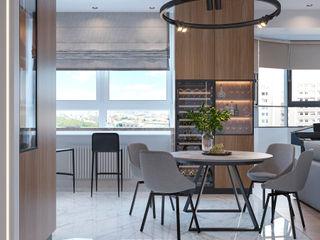 Студия дизайна 'INTSTYLE' Scandinavian style dining room Wood White