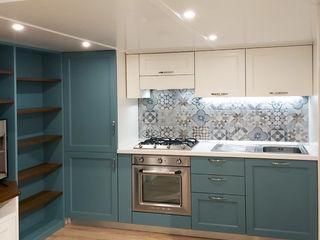 Monolocale classico Falegnamerie Design Casa piccola Legno Blu