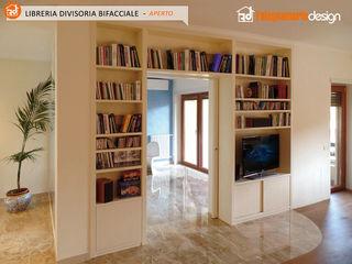 Libreria bifacciale Falegnamerie Design Soggiorno moderno Legno Beige