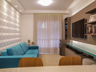 Apartamento turquesa Camarina Studio Salas de estar modernas Turquesa