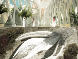 Centre of Peace and Religion, London THINK NATURE Debbie Flevotomou Architects Ltd. Eclectic style exhibition centres