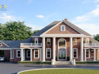 Classic Villa Home Exterior Design Visualization Saint Louis Missouri USA JMSD Consultant - 3D Architectural Visualization Studio Villas Tiles Grey