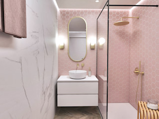 Smile Bath S.A. Kamar Mandi Minimalis Pink
