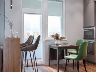 Студия дизайна 'INTSTYLE' Scandinavian style living room Wood White