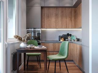 Студия дизайна 'INTSTYLE' Built-in kitchens Wood Brown