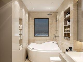 كاسل للإستشارات الهندسية وأعمال الديكور والتشطيبات العامة BathroomToilets Ceramic Beige