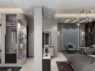 كاسل للإستشارات الهندسية وأعمال الديكور والتشطيبات العامة Small bedroom Chipboard Metallic/Silver