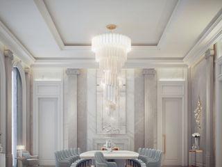 Palatial Dining Hall Interiors IONS DESIGN Minimalist dining room Stone Multicolored