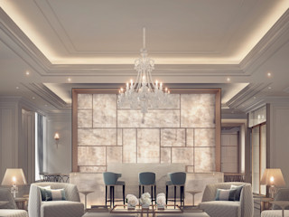 Living Room Interiors in Neutral Color Theme IONS DESIGN ห้องนั่งเล่น หิน Grey