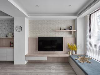 禾廊室內設計 Dinding & Lantai Gaya Skandinavia