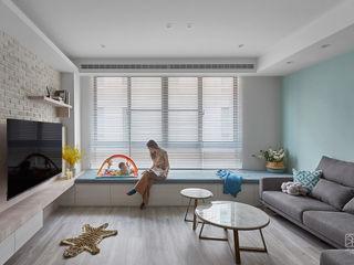 禾廊室內設計 Ruang Keluarga Gaya Skandinavia