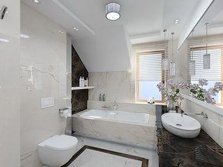 Bathroom Inspirations from LUXURY CHANDELIER Luxury Chandelier LTD BadezimmerBeleuchtungen Kupfer/Bronze/Messing Weiß