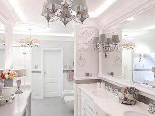 Bathroom Inspirations from LUXURY CHANDELIER Luxury Chandelier LTD BadezimmerBeleuchtungen Kupfer/Bronze/Messing Metallic/Silber