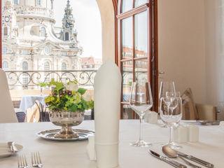 Traumhafte Wohnung an der Frauenkirche - Private Dinning für Diplomaten Immobilienfotografie & Architekturfotografie André Henschke Balkon