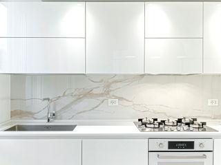 HUH (Hurry Up Home) Luca Bucciantini Architettura d' interni Cucina attrezzata Legno Bianco