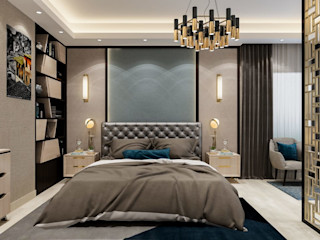 كاسل للإستشارات الهندسية وأعمال الديكور والتشطيبات العامة BedroomTextiles Feathers Blue