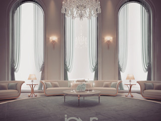 A peek on IONS Design gorgeous room interiors IONS DESIGN Living room Stone Green