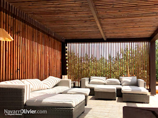 NavarrOlivier Taman Modern Kayu Wood effect