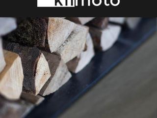 kiimoto Kamin in Stahl kiimoto kamine WohnzimmerKamin und Zubehör Stahlbeton Schwarz