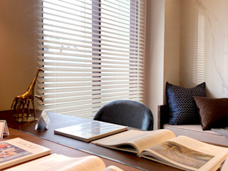 悠遊在溫柔的夢境海洋|布織百葉簾.訂製布簾紗簾 MSBT 幔室布緹 書房/辦公室 複合木地板 Beige