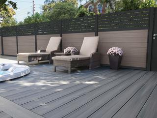 Exclusieve tuinproducten Modern garden Wood-Plastic Composite Grey