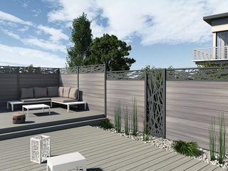 Exclusieve tuinproducten Garden Fencing & walls Wood-Plastic Composite Grey