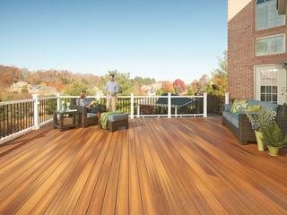 Exclusieve tuinproducten Tropical style balcony, veranda & terrace Engineered Wood Brown