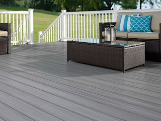 Exclusieve tuinproducten Modern balcony, veranda & terrace Wood-Plastic Composite Grey