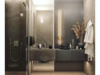 C.D. Banyo Projesi WALL INTERIOR DESIGN Modern Banyo