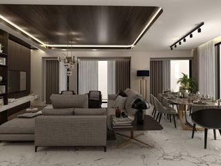 C.D. Salon Projesi WALL INTERIOR DESIGN Modern Oturma Odası
