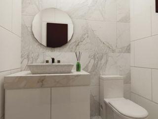 Dezeno Sdn Bhd Baños de estilo moderno Blanco