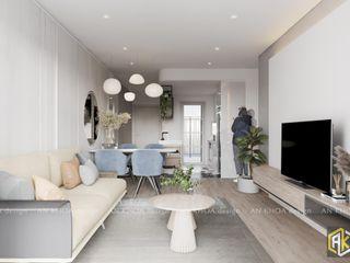Căn hộ Topaz Twins 77m2 - 2 Phòng ngủ Công ty TNHH Tư vấn thiết kế xây dựng An Khoa Interior landscaping