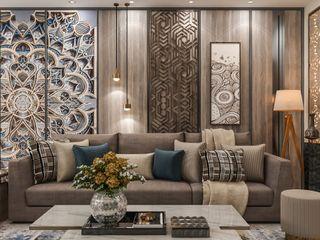 كاسل للإستشارات الهندسية وأعمال الديكور والتشطيبات العامة Mediterranean style dining room Solid Wood Metallic/Silver