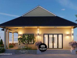 20 mẫu thiết kế nhà cấp 4 mái thái đẹp tiết kiệm kinh phí 2020 NEOHouse