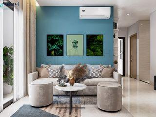 VINHOMES GRAND PARK 2BR - 59M2 - ANH VĨNH Công ty Cổ Phần Nội Thất Mạnh Hệ Phòng khách Blue