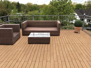 Eden B.V. Balkon, Beranda & Teras Klasik Kayu Wood effect
