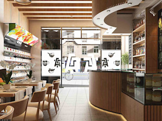Interior Cafe_Medan (Mrs. Agustina) VECTOR41 Dining roomChairs & benches