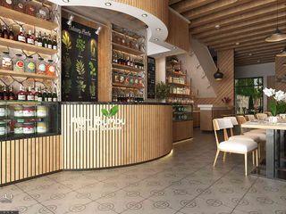 Interior Cafe_Medan (Mrs. Agustina) VECTOR41 Gastronomi Gaya Industrial
