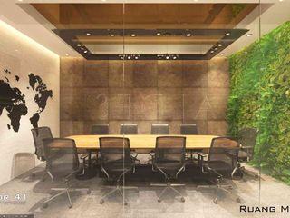 Interior Office Room_Medan (Mr. Aldes) VECTOR41 Bangunan Kantor Modern