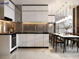 VINHOMES GRAND PARK - 81M2 - 3PN - 3BR Công ty Cổ Phần Nội Thất Mạnh Hệ Nhà bếp phong cách hiện đại White