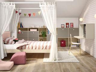Progettazione cameretta bambini - camera ragazzi TopArredi Camera da letto moderna Legno composito