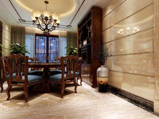 كاسل للإستشارات الهندسية وأعمال الديكور والتشطيبات العامة Modern dining room MDF Black