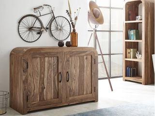Runde Formen fürs Homeoffice - Die Serie Wally DELIFE ArbeitszimmerAufbewahrungen Holz Braun
