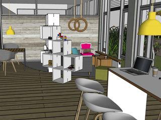 T-Systems International GmbH _WERKSTATT FÜR UNBESCHAFFBARES - Innenarchitektur aus Berlin Moderne Arbeitszimmer