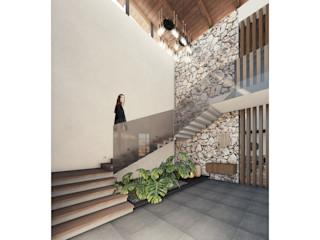 Cervantes Bueno arquitectura Stairs Stone Wood effect