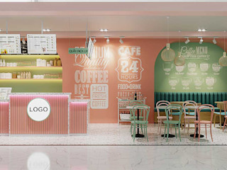 Thiết kế thi công nội thất quán trà sữa hiện đại 4x9m tại Côn Đảo NEOHouse