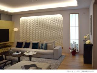 株式会社 虔山 Living roomSofas & armchairs Tiles White