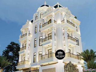 Mẫu thiết kế biệt thự tân cổ điển đẹp sang trọng 5 tầng tại Bắc Ninh NEOHouse
