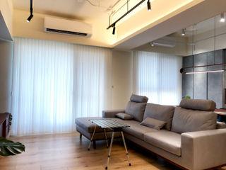 在陽光灑落的地方生活|柔紗直立簾 MSBT 幔室布緹 客廳 實木 White